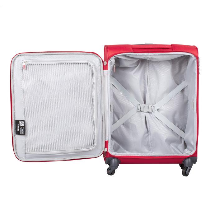 Kvalitný červený textilný kufor samsonite, červená, 960-5037 - 17