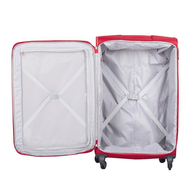 Veľký červený textilný kufor samsonite, červená, 960-5041 - 17