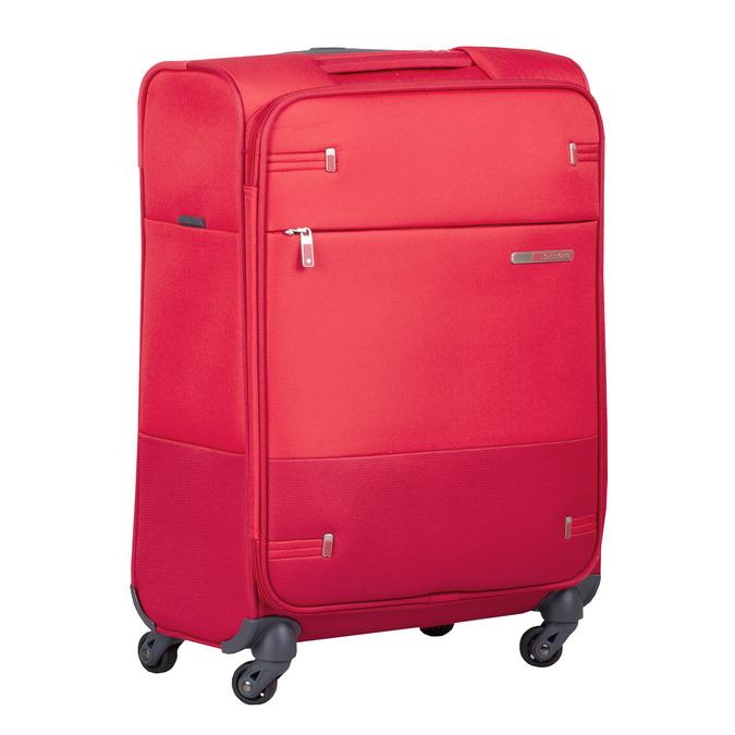 Kvalitný červený textilný kufor samsonite, červená, 960-5037 - 13