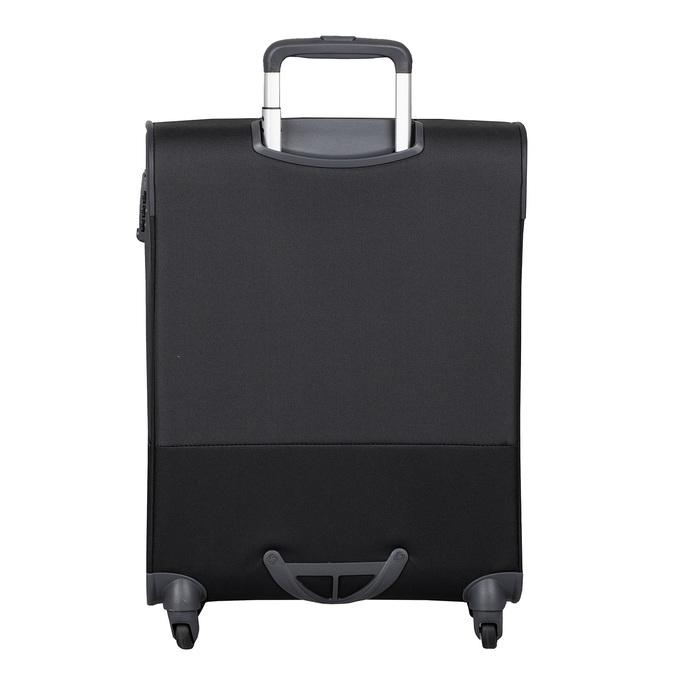 Čierny kvalitný textilný kufor samsonite, čierna, 960-6037 - 26