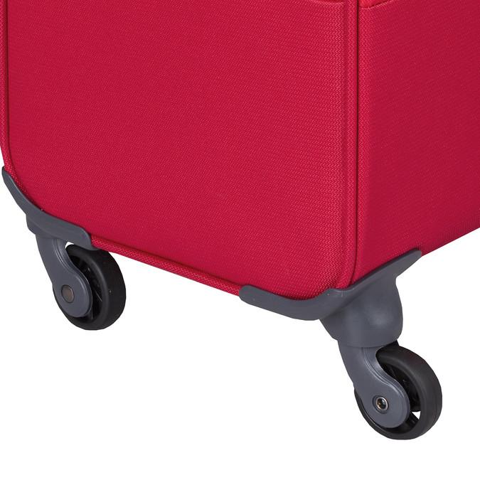 Veľký červený textilný kufor samsonite, červená, 960-5041 - 15