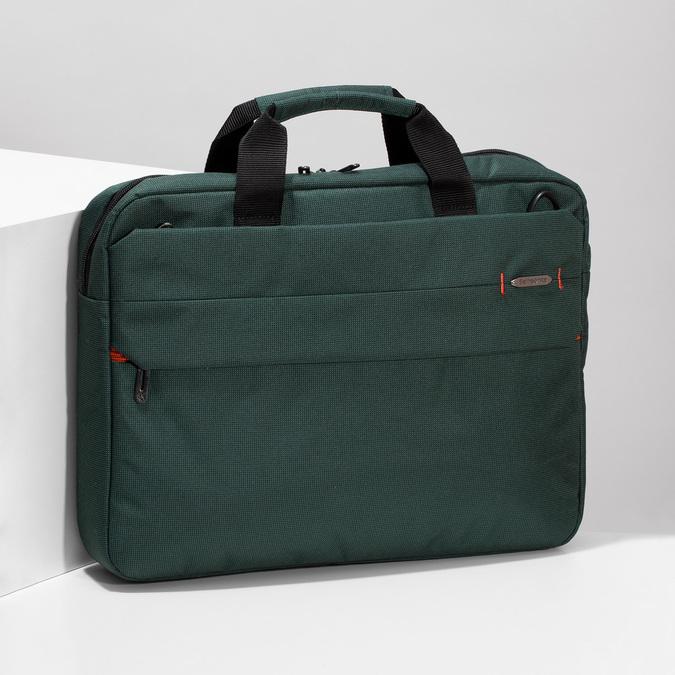 Zelená cestovná taška s popruhom samsonite, zelená, 960-7068 - 17