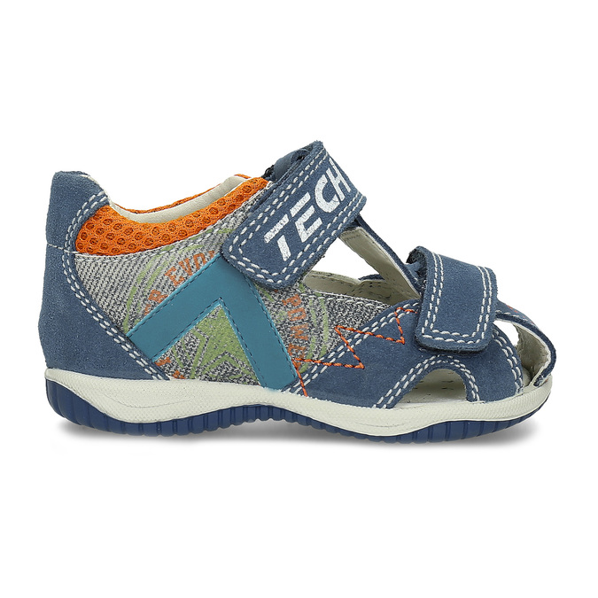 559a347732a78 Modré kožené detské sandále na suchý zips bubblegummers, modrá, 163-9630 -  19