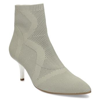Dámske členkové topánky s metalickým podpätkom bata-b-flex, šedá, 799-2648 - 13