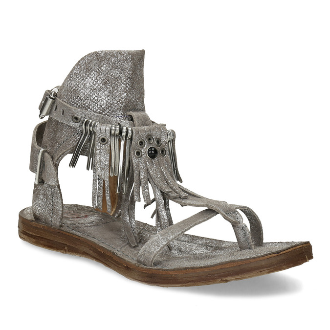 1d439b574437 A.s. 98 Strieborné kožené sandále s kovovými detailami - Všetky ...