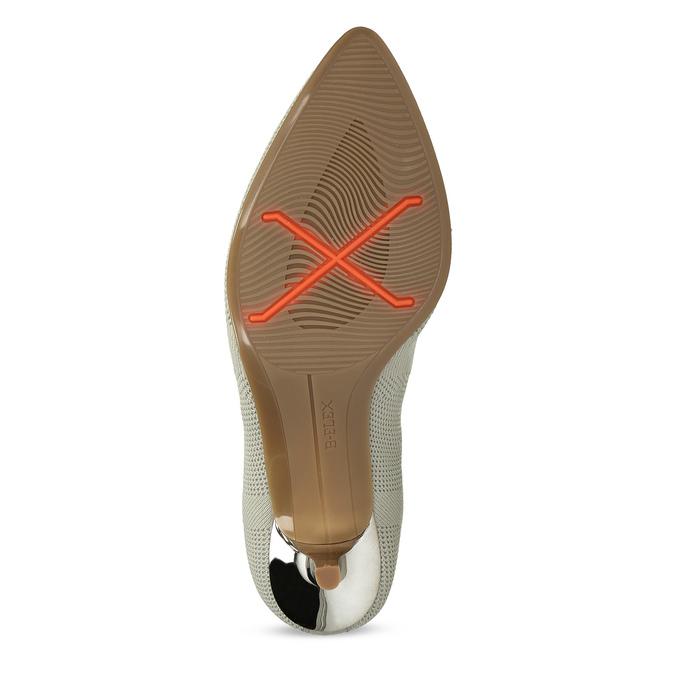 Dámske lodičky v pletenom dizajne bata-b-flex, šedá, 729-2641 - 18