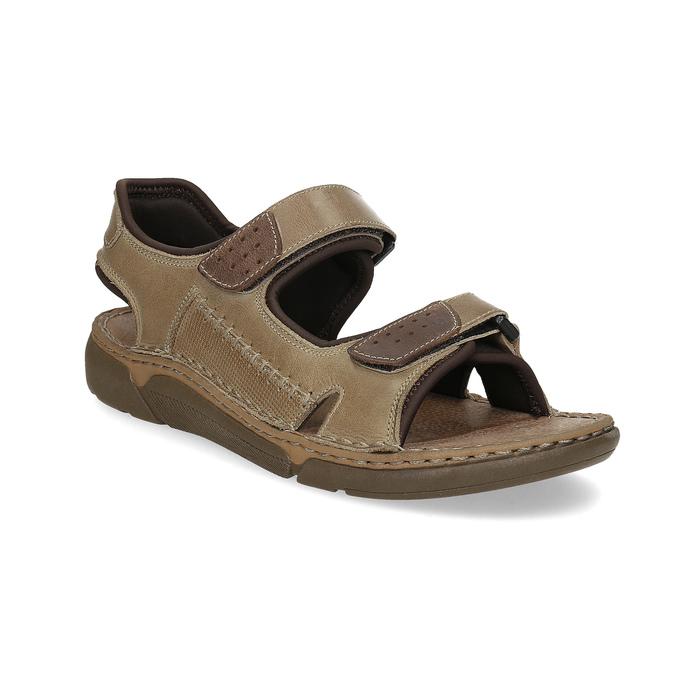 6908d6ab72064 Kožené pánske sandále čierno-modré weinbrenner, hnedá, 866-4643 - 13