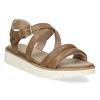 Dámske kožené sandále na svetlej podrážke flexible, hnedá, 563-4601 - 13
