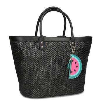daa710e3d311 Čierna plážová taška s príveskom bata-red-label
