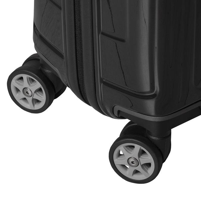 Škrupinový kufor na kolieskach samsonite, čierna, 960-6031 - 16