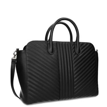 Čierna kabelka na notebook s prešívaním bata-red-label, čierna, 961-6950 - 13
