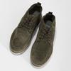 Členková pánska obuv z brúsenej kože bata, zelená, 823-7605 - 16