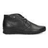 Členková čierna kožená dámska obuv comfit, čierna, 594-6707 - 19