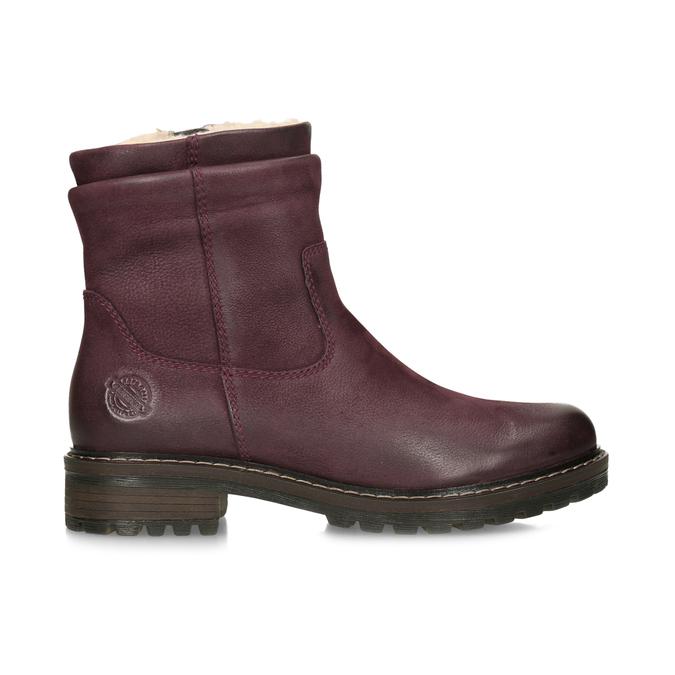 Dámske červené kožené zimné čižmy bata, červená, 596-5703 - 19