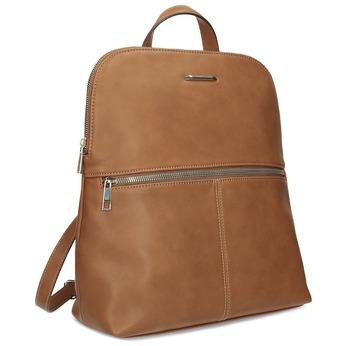 Dámsky hnedý batoh so zipsom bata-red-label, hnedá, 961-3941 - 13