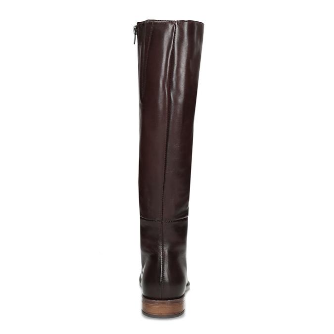 Vínové dámske kožené čižmy bata, červená, 594-5637 - 15
