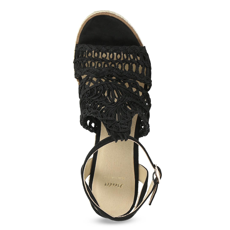 f4035c3937fef ... Čierne prepletané sandále na platforme bata, čierna, 759-6633 - 17 ...