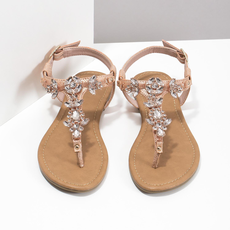 109198f6cfd53 ... Dámske sandále s kamienkami bata, ružová, 561-5612 - 16 ...
