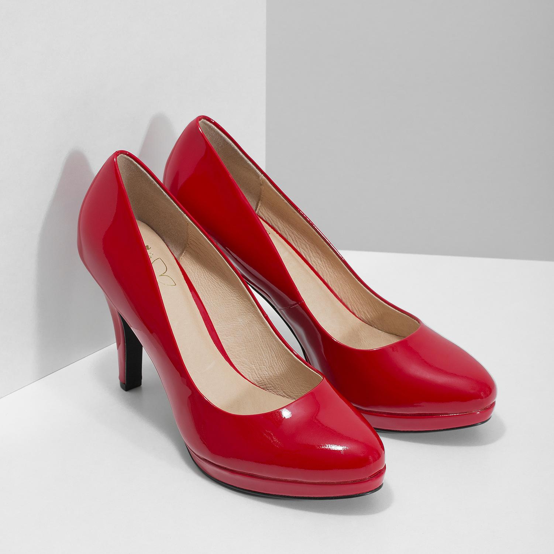 048231da9 ... Červené lodičky z lakovanej kože insolia, červená, 728-5104 - 26 ...