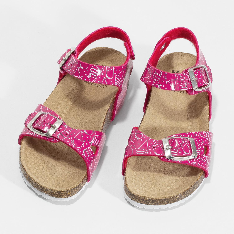 e85fa52e22e5 Mini B Dievčenské ružové korkové sandále - Deti