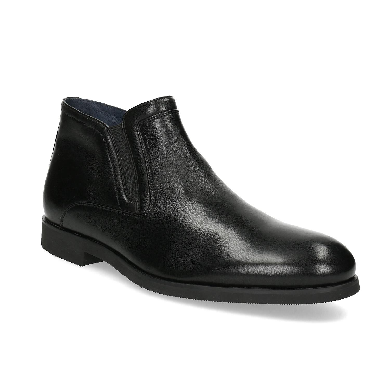Baťa Kožená členková pánska obuv s prešitím - Elegantné  09ba91f08c4