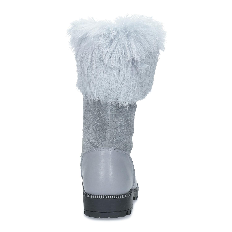 017240c5be Mini B Zimné dievčenské čižmy s kožušinkou - Čižmy