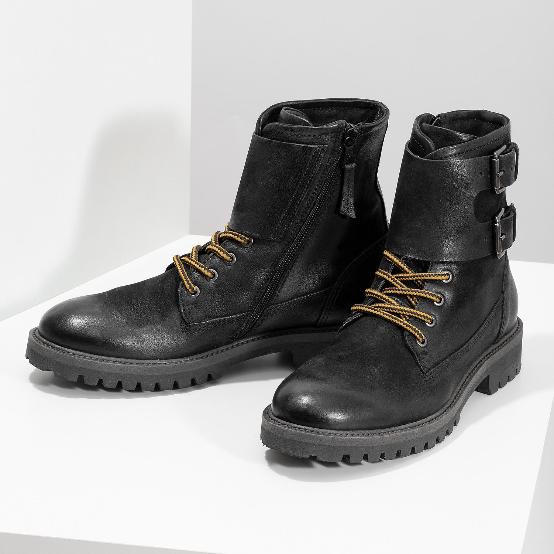 Baťa Pánska kožená zimná čierna obuv - Hard Worker  d34cb88d092