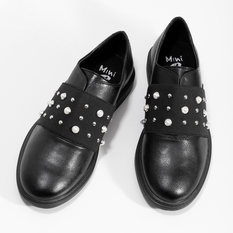 5e033f2b63a1 Mini B Dievčenské poltopánky s perličkami - Všetky detské topánky ...
