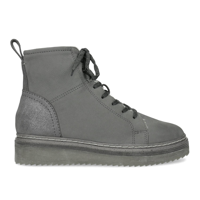 Baťa Členková dámska kožená zimná obuv - Zľavy  a2701f623c2