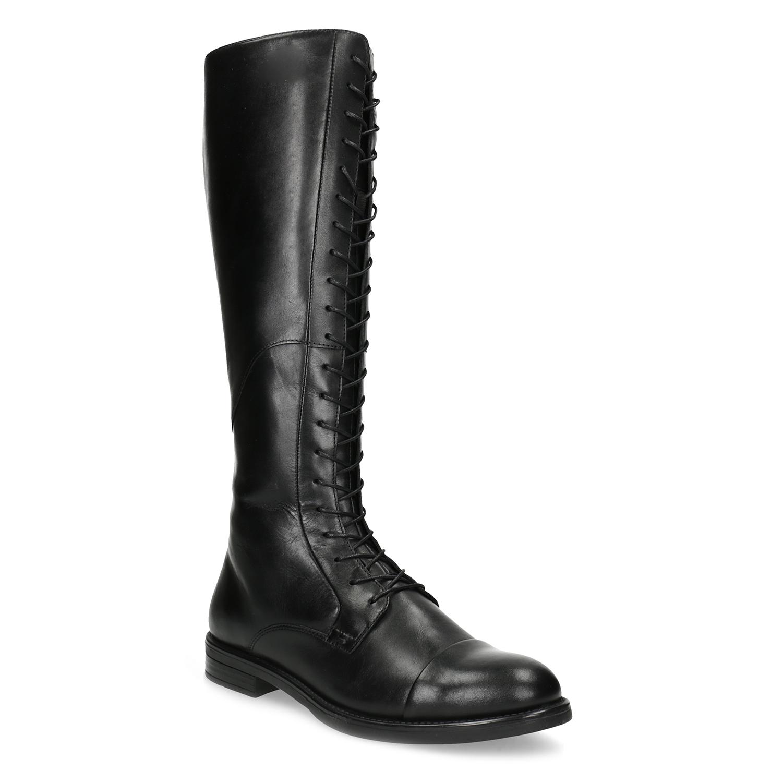 86fb2a7f5096 Vagabond Kožené čierne čižmy s vysokým šnurovaním - Všetky topánky ...