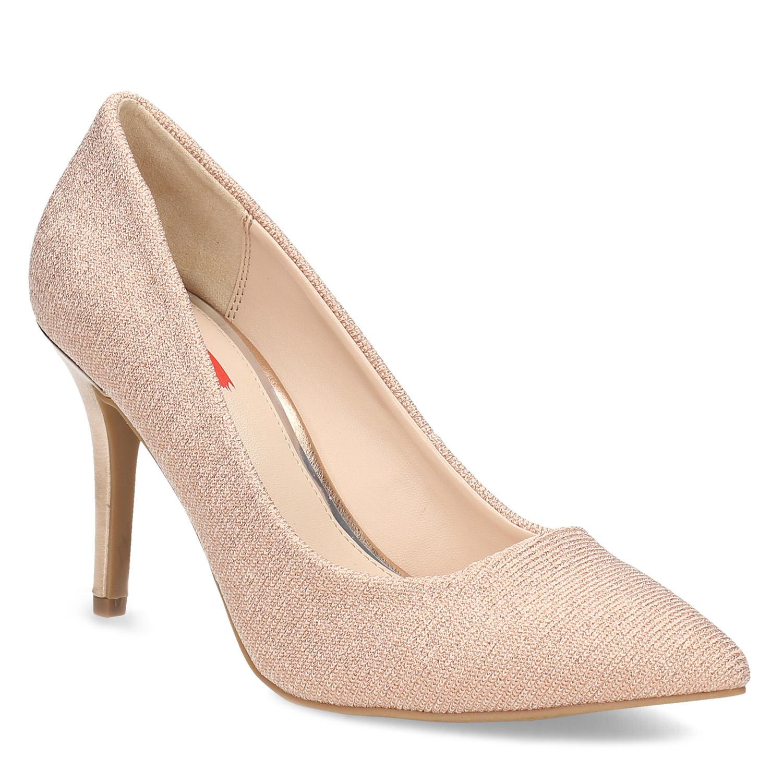 d28ec579fd70 Bata Red Label Zlaté lodičky do špičky - Všetky topánky