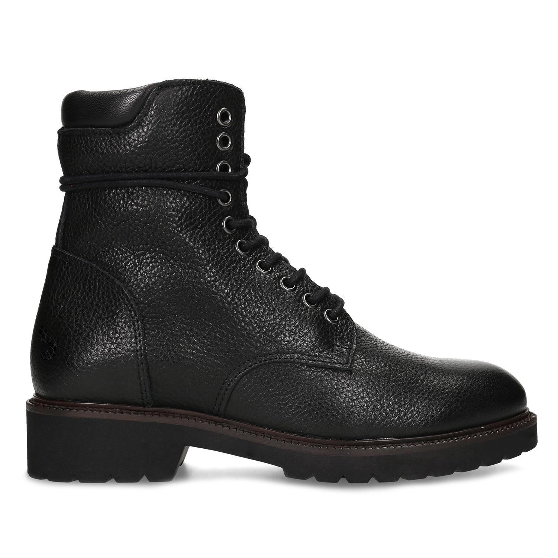 eafdd3d96772 Baťa Dámska čierna kožená členková obuv - Členková