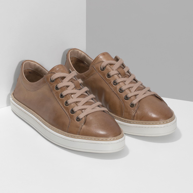 dcad4c78b ... Dámske hnedé kožené tenisky bata, hnedá, 544-3601 - 26 ...