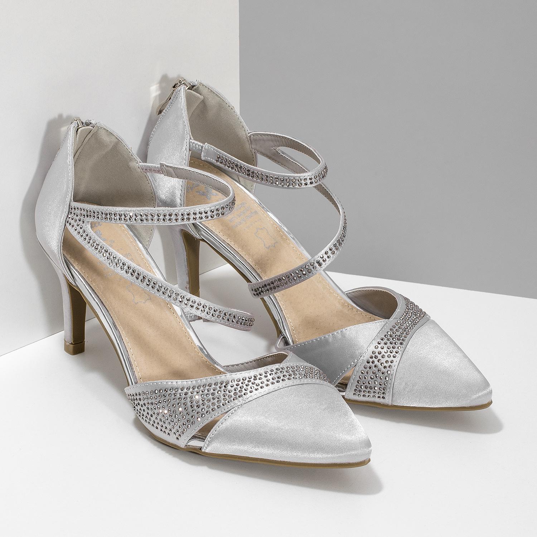 000f34b7998e9 ... Strieborné dámske sandále na ihličkovom podpätku insolia, strieborná,  729-1634 - 26 ...