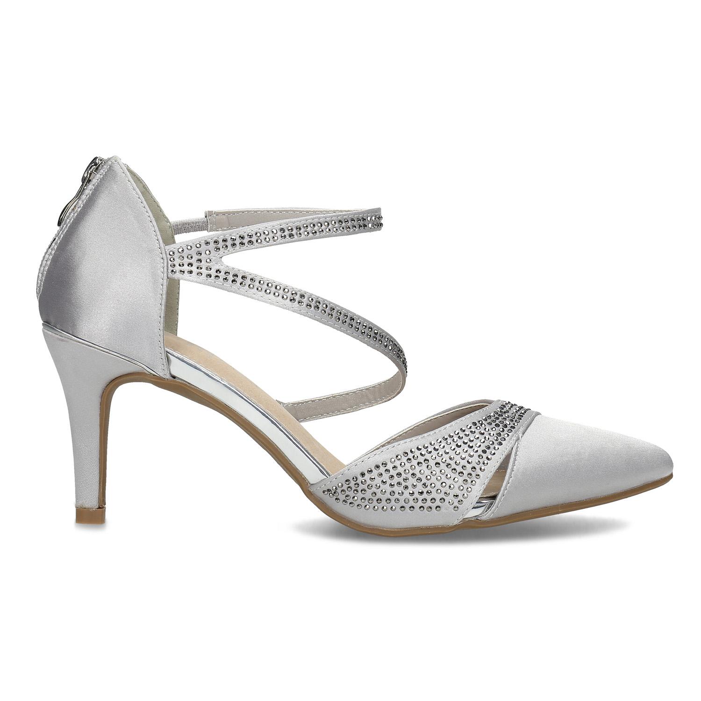 84a0d5ef33094 ... Strieborné dámske sandále na ihličkovom podpätku insolia, strieborná,  729-1634 - 19 ...