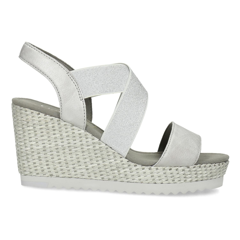 30ea1603b7918 ... Strieborné dámske sandále na platforme gabor, strieborná, 769-1645 - 19  ...